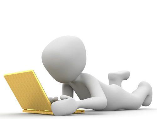Человечек с ноутбуком